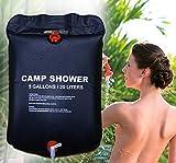 ISO TRADE Solardusche Campingdusche 20L Shower Outdoordusche Schwarz Solar Tasche Dusche 1168
