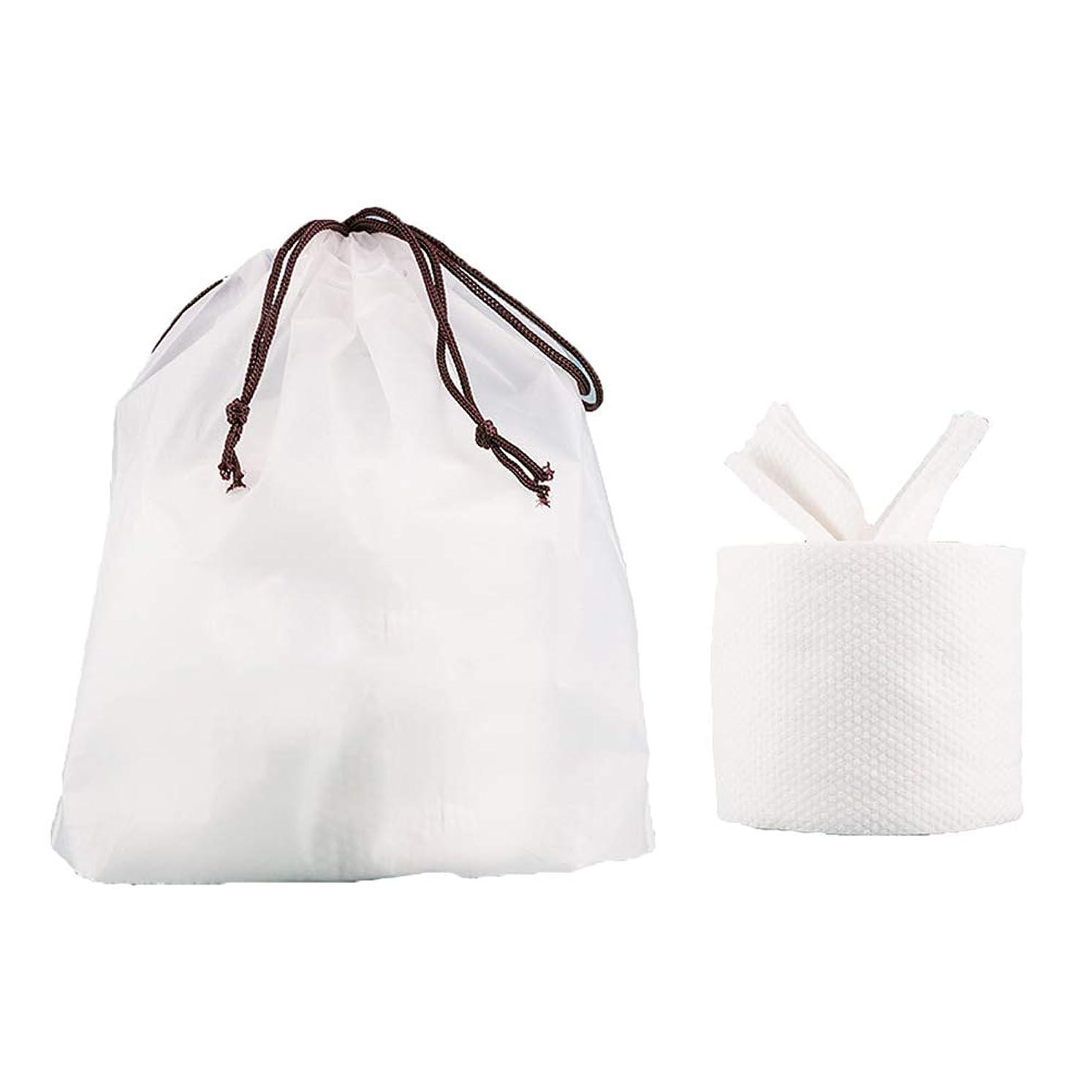 徴収若さ論争Healifty フェイシャルコットンティッシュトラベルコットンタオルクレンジングワイパーウォッシュクロストラベルポータブルワイプ女性用(1ロールフェイスタオル+ 1個収納バッグ)