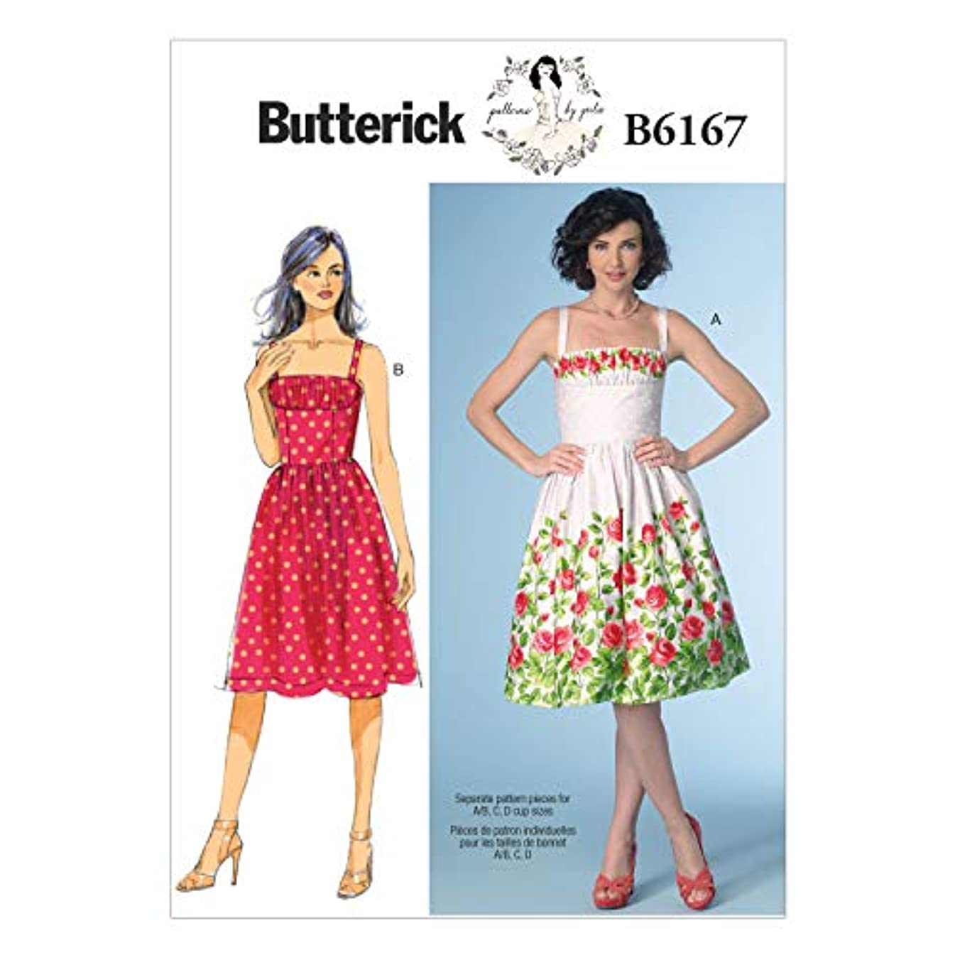 BUTTERICK PATTERNS B6167AX5 Misses' Dress Sewing Template, A5 (6-8-10-12-14)