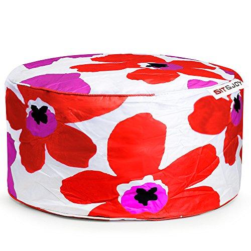 Sit&Joy Sitzkissen Sitzsack Bodenkissen Kissen Kinder-Sitzsack Sitzsack Kinder Bag Chair Blume orange-pink