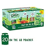 GoGo squeeZ Applesauce on the Go, Variety Pack (Apple Apple/Apple Cinnamon), 3.2 Ounce (20 Pouches), Gluten Free, Vegan Friendly, Unsweetened, Recloseable, BPA Free Pouches (Packaging May Vary)