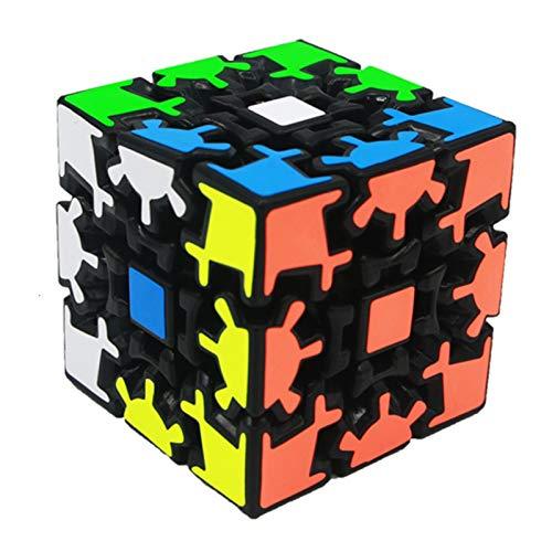 NYKK Rompicapo sequenziali Gear Puzzle Twisted Cube Cube Magic Cube 3x3x3 Speed Cube Cubo Professionale Game Gioco Educativo Forma Strana Forma Twis