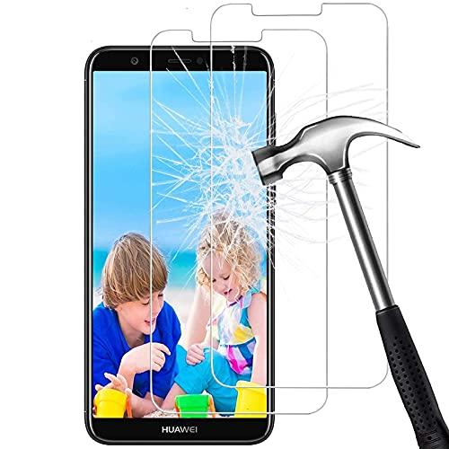FUMUM Panzerfolie für Huawei P SmartFolie,5 Mal Verstärkung Anti-Kratzen[2 Pack] Gehärtetes Glas 9H HD Schutzfolie für Huawei P Smart2018 Panzerglas[Keine Bläschen]
