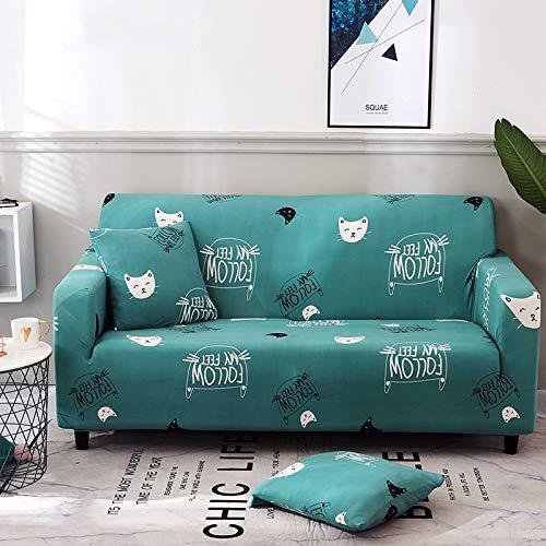 chenbyyao Einfaches und frisches Stretchgewebe für Vier Personen,Sofabezug Stretch Sofahusse...