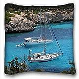 Throw Pillow Covers S (Paisajes Barcos Veleros Mallorca España Rocas Marinas) In from Surprise You King- 5970 Fundas De Almohada con Cremallera Sofá Ropa De Cama De Regalo 45X45Cm