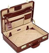 Luxury Leather Executive Case Attache Briefcase Expander Business Bag