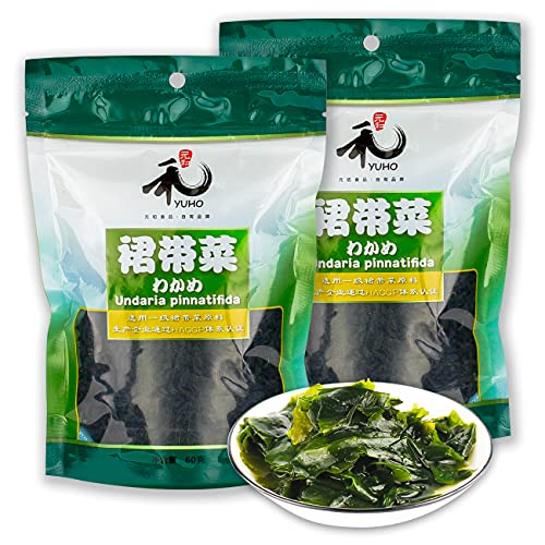 YUHO First-grade wakame raw material HACCP certification 2.12OZ Bags (pack of 2)