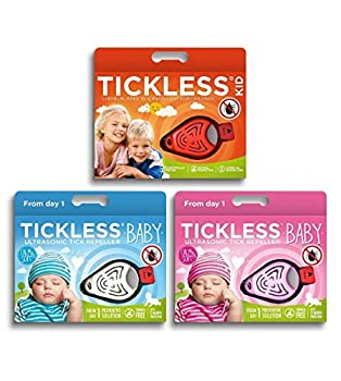 Tickless Baby Répulsif anti-tiques à ultrasons pour bébés et enfants - Beige