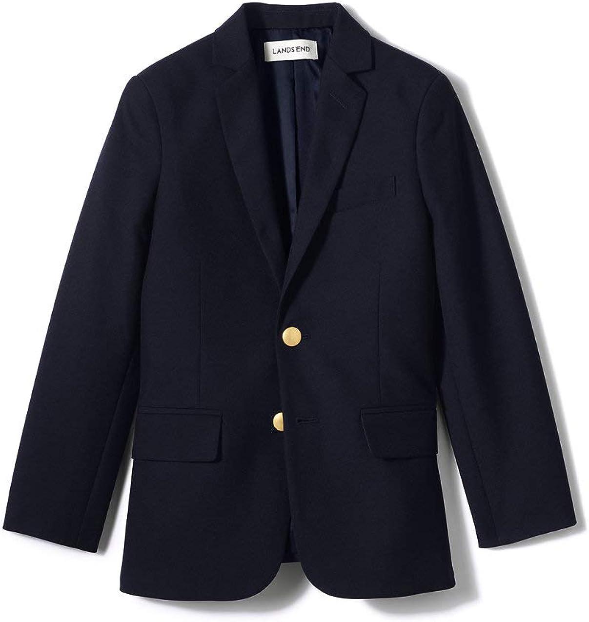 Lands' End School Uniform Boys Tailored Fit Hopsack Blazer
