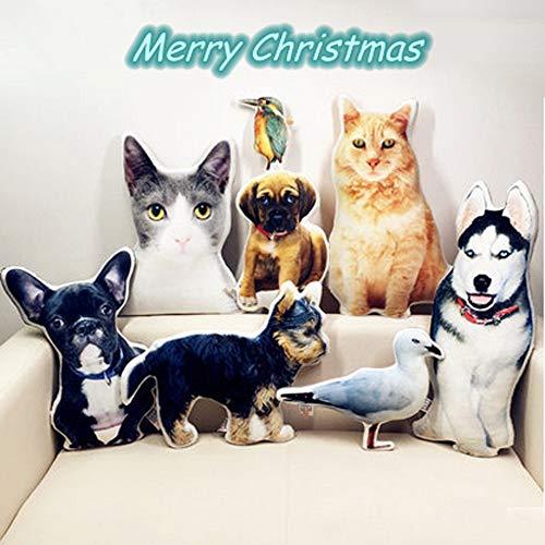 Personalisierte Haustierkissen 3D Hund Katze geformte Tierkissen Simulationskissen Farbig Bild Foto Bedrucken lustiges Kissen für Zuhause Sofa Autositz Dekorative Einzigartige Geburtstagsgeschenk