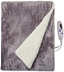 top 10 biddeford heated throw Bidford Blanket Electrically heated velor blanket with digital controller, checkers, gray, …