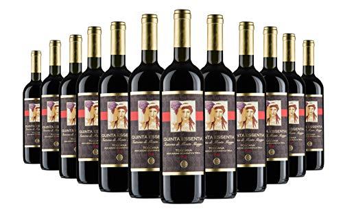 Quinta Essentia di Montemaggio - Vino Tinto Ecológico Fino Orgánico de Italia - IGT Toscana - Sangiovese/Merlot - Vino Super Tuscan Italiano - Fattoria di Montemaggio - 0.75L - 24 Botellas