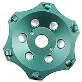 Disco de diamante profesional PKD de 125 mm x 22,23 mm, 6 segmentos, para uso con amoladora angular