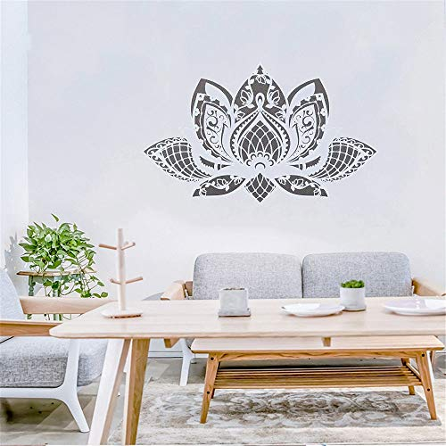 Lotus Mandala flor Yoga decoración del hogar sala de estar dormitorio calcomanía mural extraíble vinilo adhesivo para pared papel tapiz A6 42x72CM