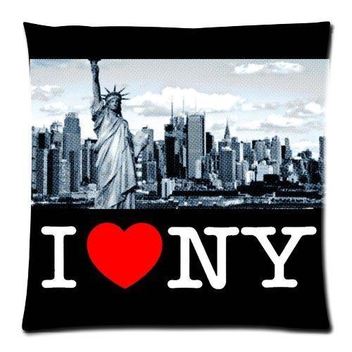 MLNHY I Love NY New York City Statue of Liberty Custom Zippered Pillow Cushion Case Throw Pillow Covers 18\