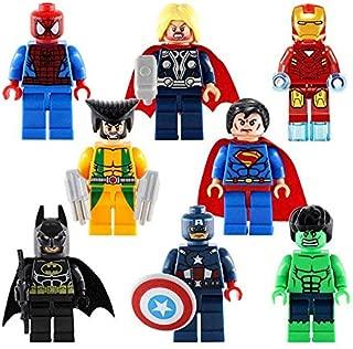 Heroes 8pcs Superhero Mini Building Block Action Figures - Mini Super Figures with Accessories - Super Set Building Blocks - Building Blocks Brick DIY Toys Children