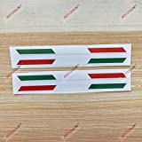 italian flag stripe tape - 3S MOTORLINE 2X Glossy 6'' Pair Italy Italian Flag Stripes Decal Stiker Italia b Car Vinyl sda2
