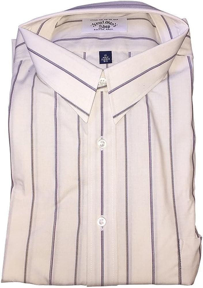 Big and Tall Combed Cotton Short Sleeve Dress Shirt USA Made