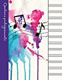 Quaderno pentagrammato: Quaderno di musica - Copertina viola...