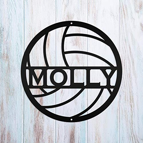 Personalized Volleyball Metal Sign Wall Art