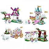 648pcs Set 4 En 1 Princess Friends City Figuras Lindas Ensamblar Bloques De Construcción, Ladrillos Juguete De CumpleañOs para NiñAs Juguetes para NiñOs Juguetes para BebéS 648pcsNoBox