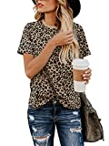 Blooming Jelly Womens Leopard Print Tops...