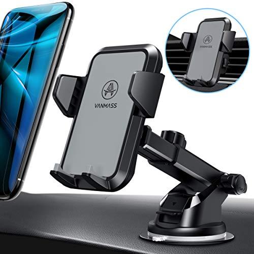 VANMASS Handyhalterung Auto Handyhalter fürs Auto Lüftung und Saugnapf Halterung 3 in 1 Smartphone Halterung KFZ 100prozent Silikon Schützt Universal für alle 4-7 Zoll Handys wie iPhone Samsung Huawei LG