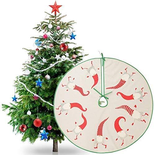 NLRHH 90cm Weihnachtsbaumrock Schwedisch GNOME Ons Runde Teppichboden Matte Neujahr Party Decor (Baumrock Durchmesser: 35.43in) Peng