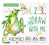 MD CREATIVE 123 Draw with Me Learn How to Draw Animals Step by Step Birthday Present for Preschoolers and Kids Ages 3 4 5 Numbers 0-20