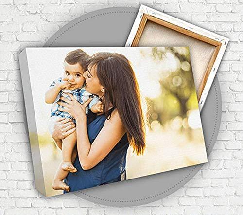 YISAMA Cuadro Personalizado con Foto en Lienzo con Bastidor de 40x60 Cm.
