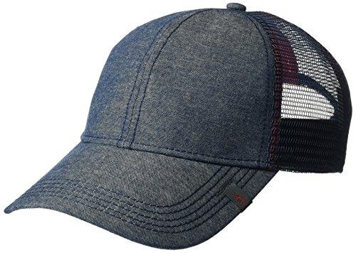 Original Penguin Men's Chambray Mesh Back Baseball Cap, Dark Sapphire, One Size