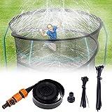 Trampolin Wasser Sprinkler für Kinder 12M,Trampolin Sprinkler,Trampolin Zubehör Wasserpark Garten...
