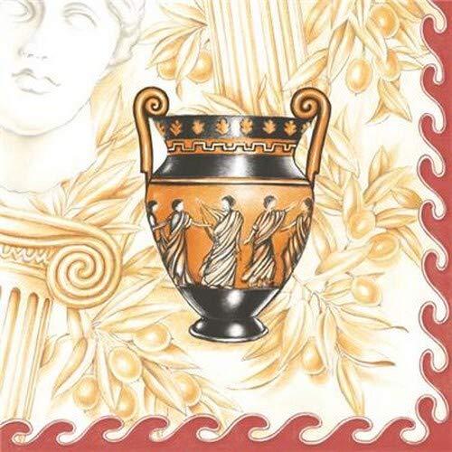 20 servetten antieke vaas   Griekenland   Egypte 33x33cm