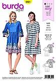 Burda Femmes Patron de couture facile 6401Swing Robe avec manches variations