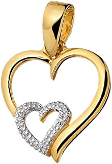 Kaizer Economica Stylish Gold Plated Pendant with American Diamond Sparkle for Women/Girls (Valentine/Gifting)