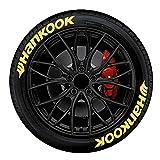 Hotsel Adesivi per pneumatici auto, Hankook Automobile Inglese 3D Stereo Alfabeto Adesivi Pneumatici 8 Impermeabile Set di Adesivi Pneumatici