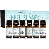 Premium Grade Fragrance Oil - Fresh Summer - Gift Set 6/10ml Bottles - Baby Powder, Fresh Cotton, Ocean Breeze, Sweet Pea, Mountain Rain, Vanilla