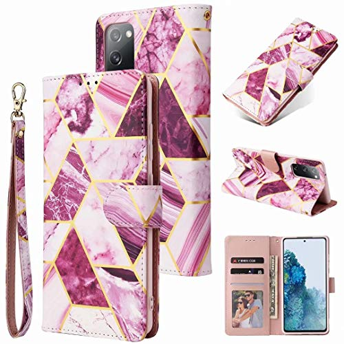 Samsung Galaxy A42 5G Case, 3D Splicing Marble Shockproof Flip Wallet Phone Cases Folio Premium PU Leather Magnetic Protective Cover Bumper with Stand Card Holder Slots for Samsung Galaxy A42 5G