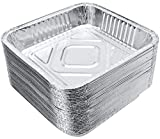Aluminum Pans 8' x 8' (30 Pack) Square Pans - Disposable Aluminum Foil Tins, Perfect for Baking and Cooking, Standard Size