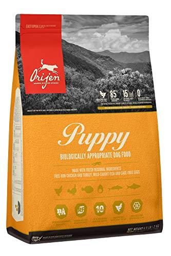 ORIJEN Puppy Dog Food, Grain Free, High Protein, Fresh & Raw Animal Ingredients, 4lb