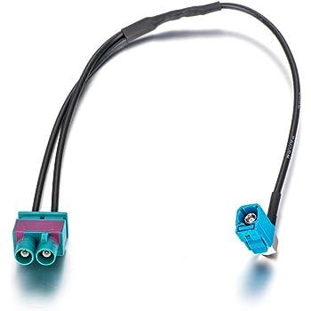 universel Z et prise m/âle unique distributeur Adapter-Universe/® Adaptateur d/'antenne Fakra double prise femelle pour voiture