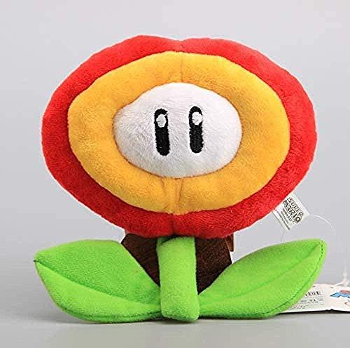INGFBDS Peluches Super Mario Bros Flor de Hielo y Flor de Fuego 18 cm Peluches Muñecos de Peluche de Dibujos Animados