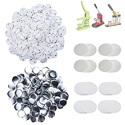 Amazon - 80% Off on  500 Sets 32mm(1.25 inch) Blank Pin Back Button Parts for Button Maker Machine