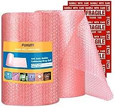 Fuxury Pink Anti-Static Bubble Wrap Roll 12