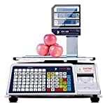 VisionTechShop DLP-300 Label Printing Scale Pole Display, 30/60lbs Capacity, 0.01/0.02lbs, NTEP Legal for Trade