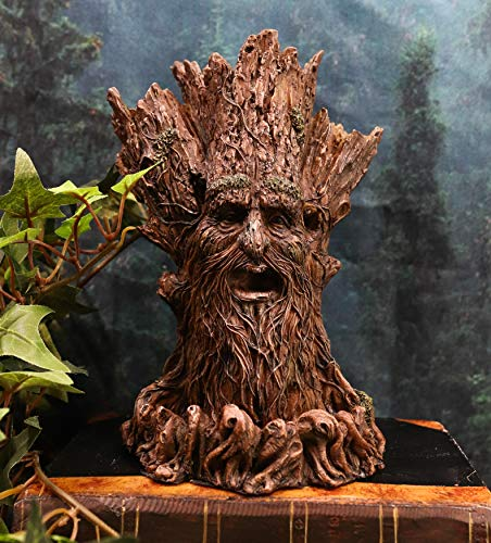 Ebros Gift Whispering Forest Celtic Greenman Tree Man God Backflow Incense Cone Burner Aroma Scent Figurine 6.75' H Horned God Tree of Life Mystical Creature Being