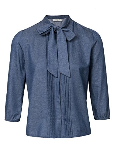 Vive Maria Victorian denim blouse donkerblauw