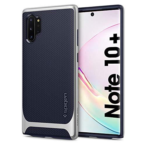 Spigen Funda Neo Hybrid Compatible con Samsung Galaxy Note 10 Plus (2019), Diseño de Doble Capa y Moderno - Plata Ártico