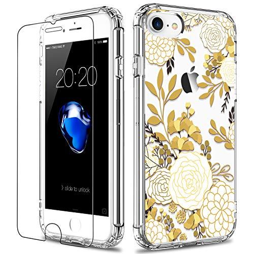 iPhone 7/SE Hülle, Blume Champagner