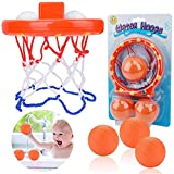 WENTS Badespielzeug Mini Basketballkorb Wasserspielzeug Baby Spaß Badezimmer Saugnapf Dunker für Badezimmer Baby Spielzeug Baby Badewanne(1 Korb, 3 Bälle)